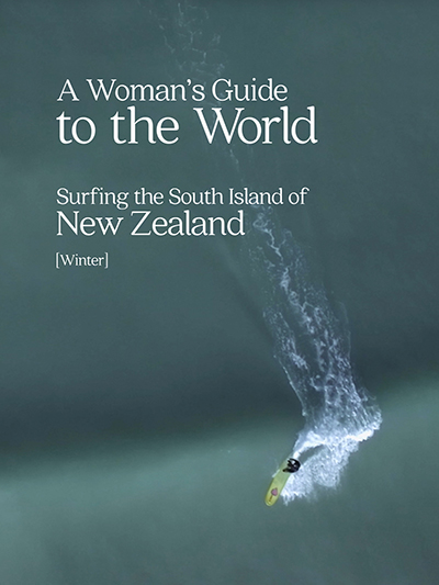 Surfing the South Island of New Zealand Poster Web