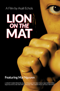 Lion on the Mat Poster Web